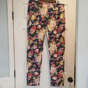 Floral U-51 straight leg jeans size 22